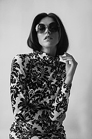 Maria Iuliana Somu model (μοντέλο). Photoshoot of model Maria Iuliana Somu demonstrating Face Modeling.Face Modeling Photo #112122