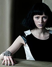 Maria Kononevskaya model. Photoshoot of model Maria Kononevskaya demonstrating Face Modeling.Face Modeling Photo #97117