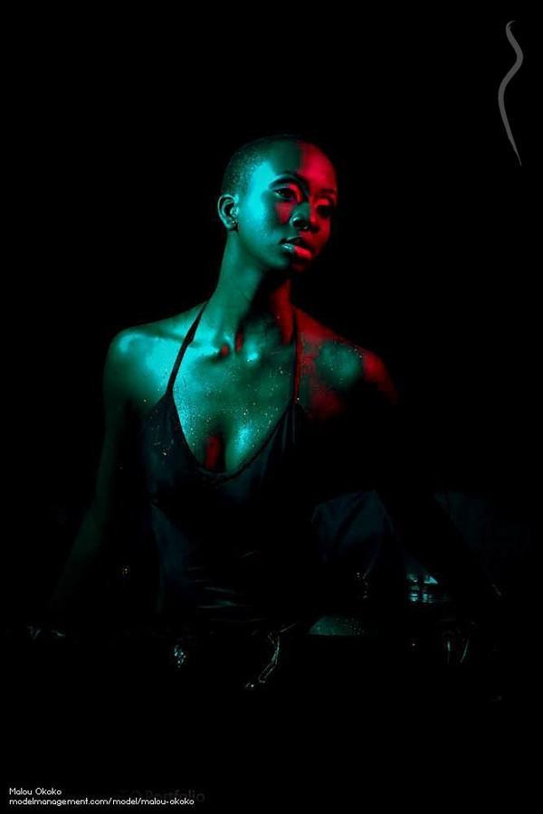Marie Louise Okoko model. Photoshoot of model Marie Louise Okoko demonstrating Face Modeling.Face Modeling Photo #120553
