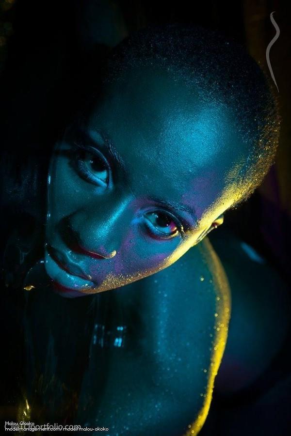 Marie Louise Okoko model. Photoshoot of model Marie Louise Okoko demonstrating Face Modeling.Face Modeling Photo #120556