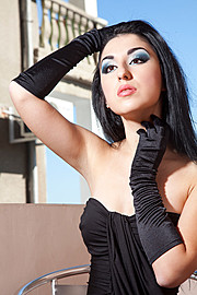 Marilyn Yusuf model (модел). Photoshoot of model Marilyn Yusuf demonstrating Face Modeling.Face Modeling Photo #73341