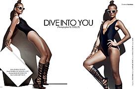 """Marine Guadalpi model. Photoshoot of model Marine Guadalpi demonstrating Fashion Modeling.==Institute Magazine editorial==""""Dive into You""""Fashion Modeling Photo #116892"""
