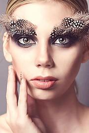 Marisol Calvert model. Photoshoot of model Marisol Calvert demonstrating Face Modeling.Eyebrow ExtensionsFace Modeling Photo #78458
