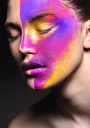 Marta Santorova makeup artist & model (Marta Šantorová makeupová umělkyně & modelka). Work by makeup artist Marta Santorova demonstrating Creative Makeup.Face Closeup,Face PaintingCreative Makeup Photo #92740
