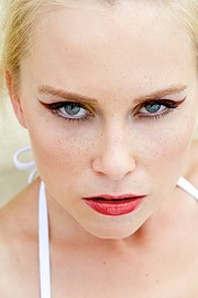 Martina Novotna model (modelka). Photoshoot of model Martina Novotna demonstrating Face Modeling.Face Modeling Photo #205768