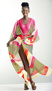 Maureen Nduta model. Maureen Nduta demonstrating Fashion Modeling, in a photoshoot by Duncan Willets.Arnold Murithii Resort LookBookPhotographer : Duncan WilletsMake Up : Cathy NderituHair Stylist : Richie using UturiFashion and Style : Lydia Omolo