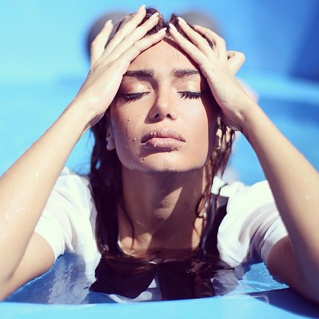 Melika Zamani model. Photoshoot of model Melika Zamani demonstrating Face Modeling.Face Modeling Photo #127911