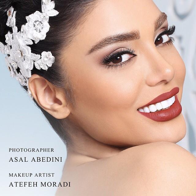 Melika Zamani model. Melika Zamani demonstrating Face Modeling, in a photoshoot by Asal Abedini with makeup done by Atefeh Moradi.photographer Asal Abedinimakeup Atefeh MoradiFace Modeling Photo #127913