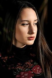 Melitini Vitta model (Μελιτίνη Βήττα μοντέλο). Photoshoot of model Melitini Vitta demonstrating Face Modeling.Face Modeling Photo #232061