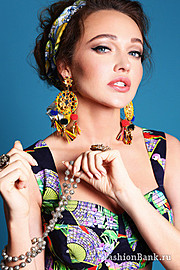 Mia Morozova model (модель). Photoshoot of model Mia Morozova demonstrating Face Modeling.Face Modeling Photo #125979