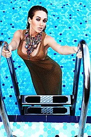 Mia Morozova model (модель). Photoshoot of model Mia Morozova demonstrating Fashion Modeling.NecklaceFashion Modeling Photo #125980