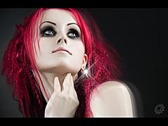 Michaela Valent model (modelka). Photoshoot of model Michaela Valent demonstrating Face Modeling.Face Modeling Photo #89019