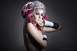 Michaela Valent model (modelka). Photoshoot of model Michaela Valent demonstrating Face Modeling.Face Modeling Photo #89025