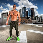Mischa Janiec natural bodybuilder. Photoshoot of model Mischa Janiec demonstrating Body Modeling.Body Modeling Photo #203698