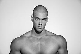 Mischa Janiec natural bodybuilder. Photoshoot of model Mischa Janiec demonstrating Face Modeling.Face Modeling Photo #73675
