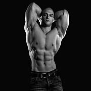 Mischa Janiec natural bodybuilder. Photoshoot of model Mischa Janiec demonstrating Body Modeling.Body Modeling Photo #73677