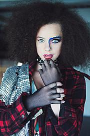 Myah Underwood makeup artist & hair stylist. Work by makeup artist Myah Underwood demonstrating Creative Makeup.Creative Makeup Photo #172570