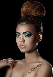 Myah Underwood makeup artist & hair stylist. Work by makeup artist Myah Underwood demonstrating Beauty Makeup.Beauty Makeup Photo #172571