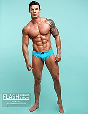 Myles Leask model. Photoshoot of model Myles Leask demonstrating Body Modeling.Body Modeling Photo #103998