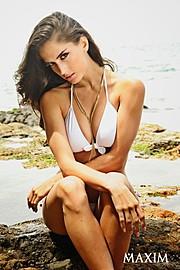 Natalia Barulich model. Photoshoot of model Natalia Barulich demonstrating Face Modeling.Face Modeling Photo #120347
