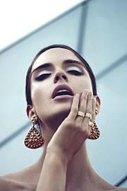 Natalia Barulich model. Photoshoot of model Natalia Barulich demonstrating Face Modeling.Face Modeling Photo #120350