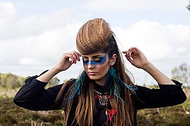 Natalie Mckee makeup artist & hair stylist. Work by makeup artist Natalie Mckee demonstrating Creative Makeup.Creative Makeup Photo #94723