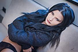 Natascia Guarnienuh model (modella). Photoshoot of model Natascia Guarnienuh demonstrating Face Modeling.Face Modeling Photo #121080