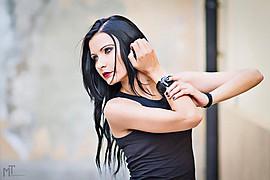 Natascia Guarnienuh model (modella). Photoshoot of model Natascia Guarnienuh demonstrating Face Modeling.Face Modeling Photo #121085