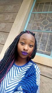 Natrishia Mwihaki model. Photoshoot of model Natrishia Mwihaki demonstrating Face Modeling.Face Modeling Photo #191163