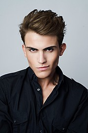 Nattan Pires model. Photoshoot of model Nattan Pires demonstrating Face Modeling.Face Modeling Photo #96743