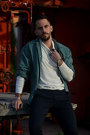 Nick Asimakopoulos model (μοντέλο). Photoshoot of model Nick Asimakopoulos demonstrating Fashion Modeling.Fashion Modeling Photo #230569
