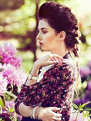 Nicole Ametrine model. Photoshoot of model Nicole Ametrine demonstrating Face Modeling.Face Modeling Photo #109555