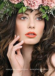 Nicole Ametrine model. Photoshoot of model Nicole Ametrine demonstrating Face Modeling.NecklaceFace Modeling Photo #109537