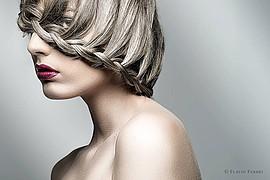 Nicole Andrea model (modella). Photoshoot of model Nicole Andrea demonstrating Face Modeling.Face Modeling Photo #109145