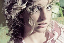 Nicole Andrea model (modella). Photoshoot of model Nicole Andrea demonstrating Face Modeling.Face Modeling Photo #109150