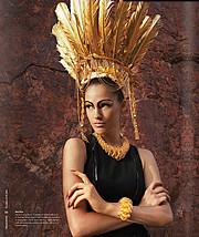 Nicole Domecus model. Photoshoot of model Nicole Domecus demonstrating Face Modeling.Face Modeling Photo #126390