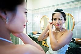 Nikki Fu makeup artist. Work by makeup artist Nikki Fu demonstrating Bridal Makeup.Bridal Makeup Photo #100800