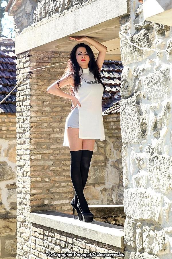 Nikoleta Kalogianni model (Νικολέτα Καλογιάννη μοντέλο). Photoshoot of model Nikoleta Kalogianni demonstrating Fashion Modeling.Fashion Modeling Photo #167391
