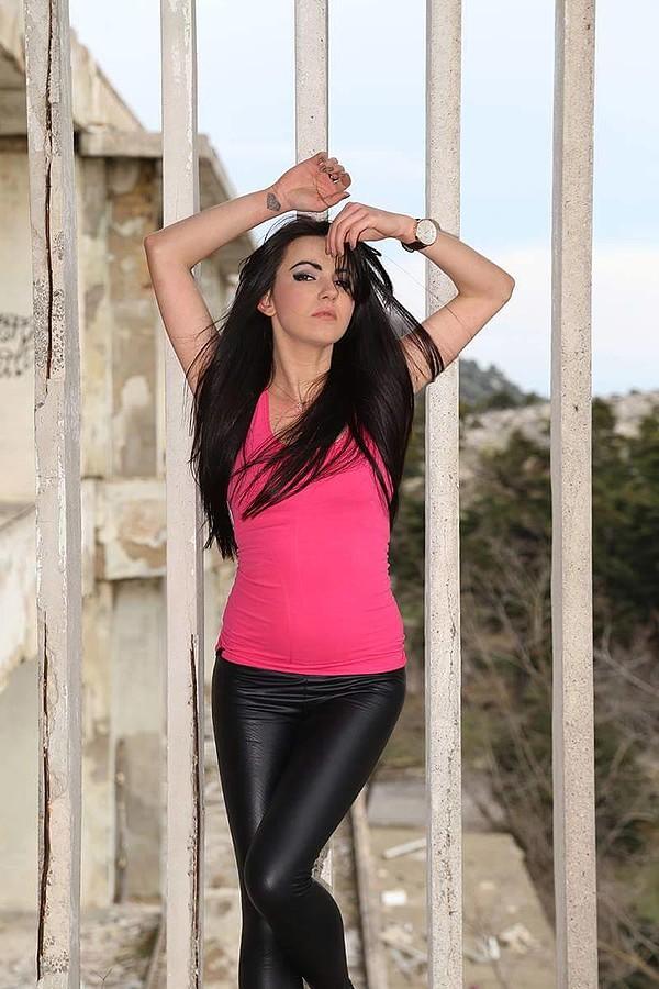 Nikoleta Kalogianni model (Νικολέτα Καλογιάννη μοντέλο). Photoshoot of model Nikoleta Kalogianni demonstrating Fashion Modeling.Model: Nikoleta KalogianniLocation:Sanatorio ParnithasSuitFashion Modeling Photo #167422