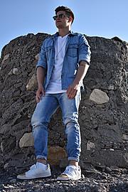 Nikos Nikoloudakis model (μοντέλο). Photoshoot of model Nikos Nikoloudakis demonstrating Fashion Modeling.Fashion Modeling Photo #179570
