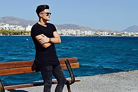 Nikos Nikoloudakis model (μοντέλο). Photoshoot of model Nikos Nikoloudakis demonstrating Fashion Modeling.Fashion Modeling Photo #179572