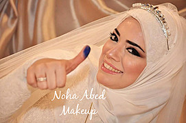 Noha Abed makeup artist. Work by makeup artist Noha Abed demonstrating Bridal Makeup.Bridal Makeup Photo #111438