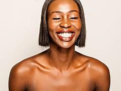 Nyawal Bukjok model. Photoshoot of model Nyawal Bukjok demonstrating Face Modeling.Face Modeling Photo #114243