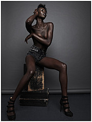 Nyawal Bukjok model. Photoshoot of model Nyawal Bukjok demonstrating Body Modeling.Body Modeling Photo #114248