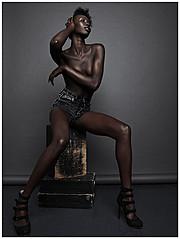 Nyawal Bukjok model. Photoshoot of model Nyawal Bukjok demonstrating Body Modeling.Body Modeling Photo #114248