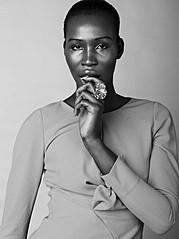 Nyawal Bukjok model. Photoshoot of model Nyawal Bukjok demonstrating Face Modeling.Face Modeling Photo #114252