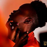 Nyayiena William model. Photoshoot of model Nyayiena William demonstrating Face Modeling.Face Modeling Photo #197323
