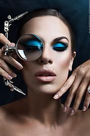 Ria Kanakari (Ρία Κανακάρη) makeup artist hair stylist, Olga Martzoukou portrait photographer retoucher. Work by photographer Olga Martzoukou demonstrating Advertising Photography in Beauty Makeup done by Ria Kanakari.Advertising Photography,Beauty