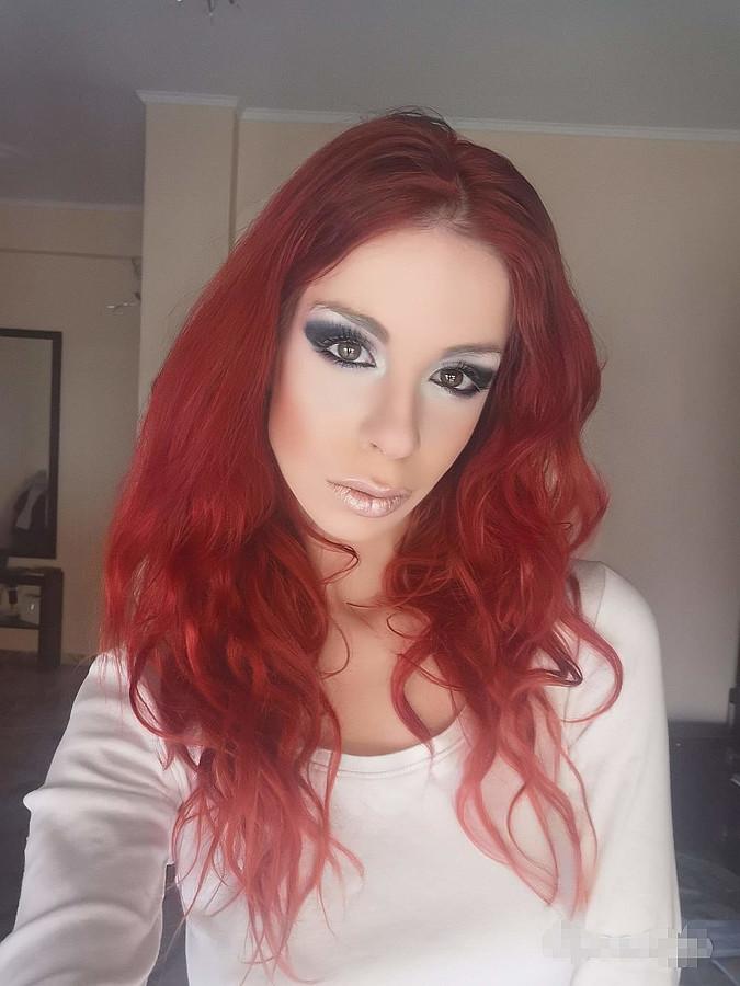 Olga Sehi model (μοντέλο). Photoshoot of model Olga Sehi demonstrating Face Modeling.Face Modeling Photo #231485