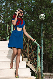 Olga Toka photographer (φωτογράφος). Work by photographer Olga Toka demonstrating Fashion Photography in a photo-session with the model Sofia.Photographer: Olga TokaMakeup & Hairstyle: Julia PopovaModel: Sofia Styling: Mirka Mathioudi Designer : Jo